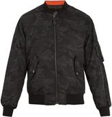 Yves Salomon Camouflage-print fur-lined bomber jacket