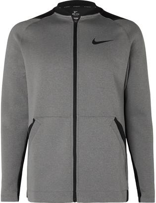 Nike Training Pro Logo-Print Dri-Fit Zip-Up Top