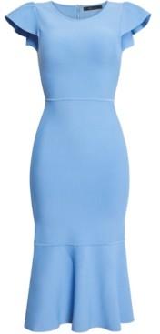 BCBGMAXAZRIA Flounce-Hem Sweater Dress