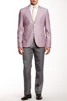 Louis Raphael Pin Dot Stripe Trouser