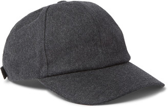 Officine Generale Worsted Wool-Flannel Baseball Cap