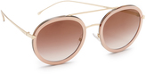 Fendi Funky Angle Round Sunglasses