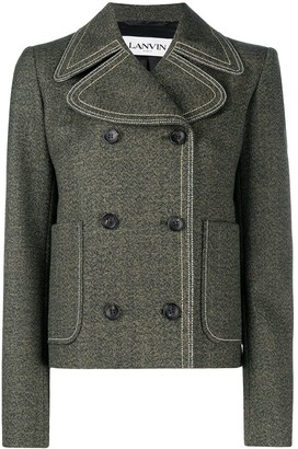 Lanvin Double-Breasted Fitted Jacket