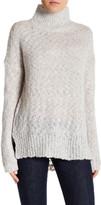 Velvet by Graham & Spencer Loose Knit Turtleneck Wool Blend Sweater