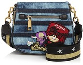 Marc Jacobs Nomad Stripe Small Denim Saddle Bag