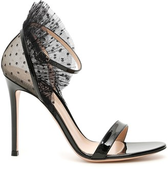 Gianvito Rossi Patent And Tulle Sandals