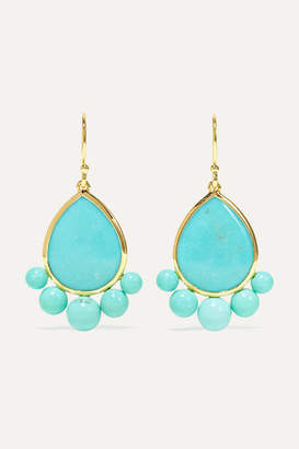 Ippolita Nova 18-karat Gold Turquoise Earrings