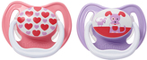 Dr Browns Pink PreVent Stage 1 Pacifier Pacifier - Set of Two