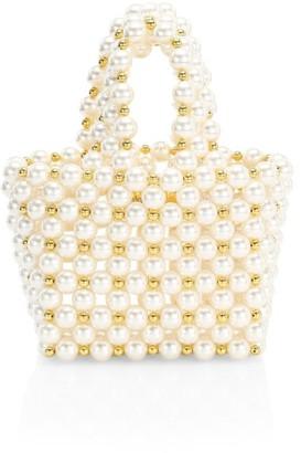 VANINA Inflorescence The Reveries Faux Pearl Top Handle Bag