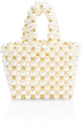 Vanina Inflorescence The Reveries Faux Pearl Top Handle Bag