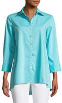 Finley Trapeze 3/4-Sleeve Swing Shirt, Plus Size