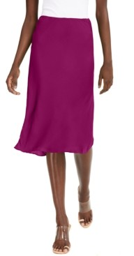 INC International Concepts Inc Petite Solid Bias-Cut Midi Skirt, Created for Macy's