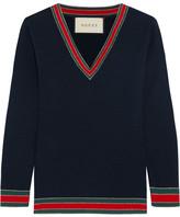 Gucci Striped Wool Sweater - Midnight blue