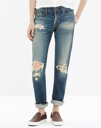 Madewell NSF Owen Destroyed-Knee Jeans