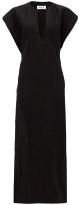 Matteau The Long Belted Poncho Linen Dress - Black