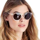 Sole Society Park Clear Round Oversized Sunglasses