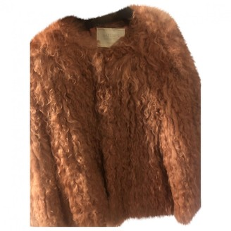 Non Signé / Unsigned Non Signe / Unsigned Orange Shearling Jacket for Women
