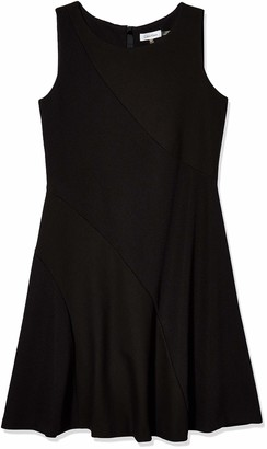 Calvin Klein Women's Mix Media Flare Dress