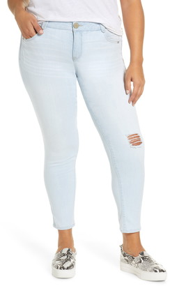 Wit & Wisdom Ab-Solution Distressed Skinny Ankle Jeans