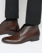 Base London Trader Leather Chukka Boots