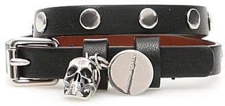 Alexander McQueen Skull Pendant Wrap Bracelet