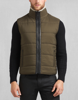 Belstaff Fyfield Vest With Fur Black