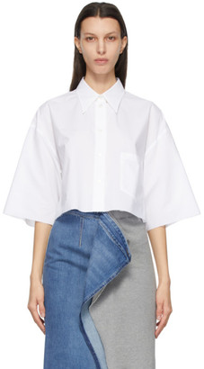 MM6 MAISON MARGIELA White Poplin Crop Shirt