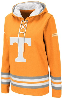 Colosseum Women's Tennessee Orange Tennessee Volunteers Striped Lace-Up Pullover Hoodie