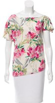 Elizabeth and James Floral Print Short Sleeve Top
