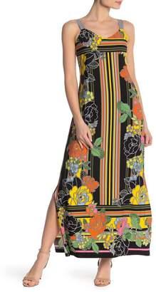 MSK V-Neck Contrast Maxi Dress