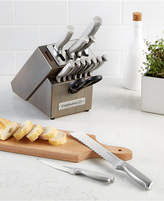 Calphalon Classic 15-Pc. Self-Sharpening Stainless Steel Cutlery Block Set
