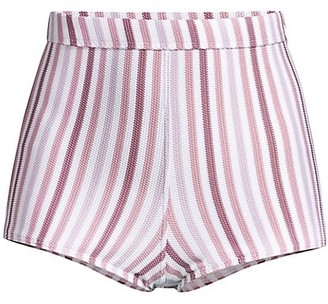 Peony Swimwear Striped High Waisted Bikini Shorts
