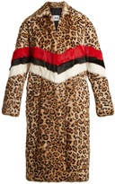 MSGM Leopard-print rabbit fur coat