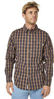 rhythm Frankie Ls Mens Shirt Blue