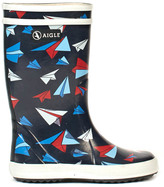 Aigle Lolly Pop Kid Airplane Rain Boots