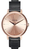 Nixon Women's A1082159 Kensington Leather Analog Display Japanese Quartz Black Watch