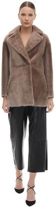 Blancha Oversize Reversible Shearling Coat