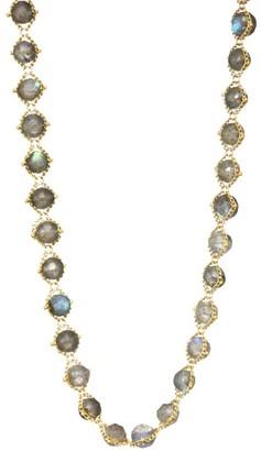Labradorite & 18K Yellow Gold Necklace