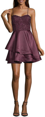My Michelle Homecoming Sleeveless Party Dress-Juniors