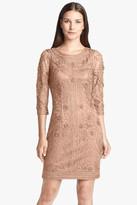 Sue Wong Ribbon Yarn Scoop Back Dress
