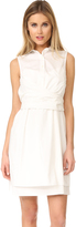 Derek Lam 10 Crosby Sleeveless Tie Front Shirtdress