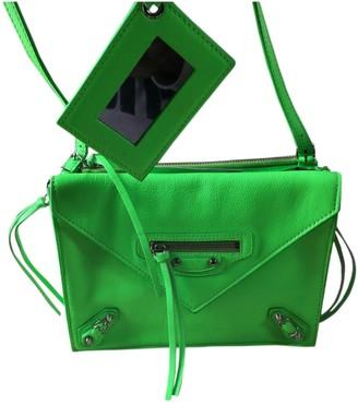 Balenciaga Papier Green Leather Handbags