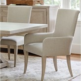 Barclay Butera Malibu Upholstered Dining Chair with Arms Upholstery: Beige, Color: Beige
