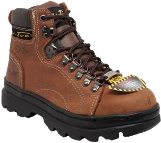 "AdTec Women's 6"" Steel Toe Work Boot Brown-W 10 M US"