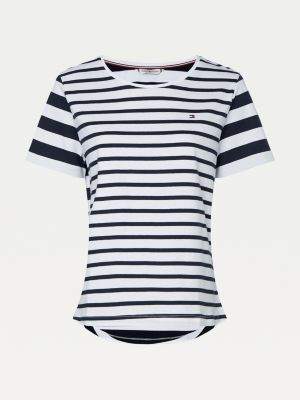 Tommy Hilfiger Curve Mixed Stripe Relaxed Fit T-Shirt
