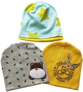 KF Baby Beanie Hat [Set of 3], for Boys