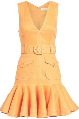 Zimmermann Super Eight Safari Linen Dress