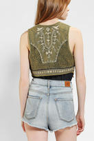 Urban Outfitters Ecote Embroidered Jacquard Vest