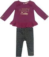 Juicy Couture Ruffled Top & Leggings Set