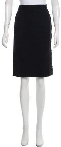 Balenciaga Faux Suede Pencil Skirt